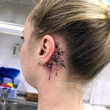 тату на шее сделать татуировку на шее в салоне дом элит тату