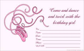 ballerina birthday invitation nice ballerina birthday invitations free