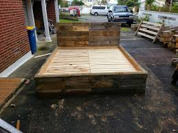 king size pallet bed super king size pallet bed frame made by the phoenix wood co