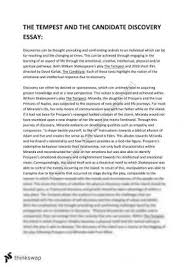 tempest essay year hsc english advanced thinkswap the tempest and related discovery essay