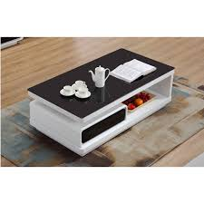 black and white gloss coffee table