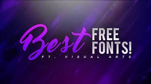 Best Font For Banner Design Best Free Fonts To Use For Youtube Thumbnails Banners Logos More 2016 2017