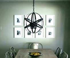 chrome orb chandelier large extra polished