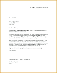 Cover Letter Formal Application Format Formal Cover Letter Report