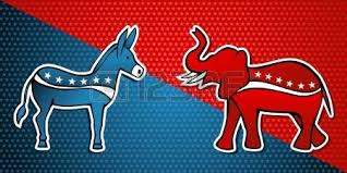 Image result for アメリカの共和党対民主党