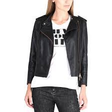 armani exchange stretch faux leather jacket