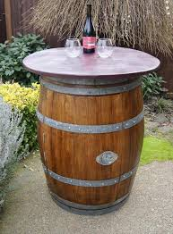 wood barrel furniture. Wine Barrel Table Wood Furniture