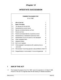 Intestate Succession Florida Chart Testate V Intestate