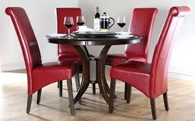 red dining room table chairs appealing wooden dinette set leather square t