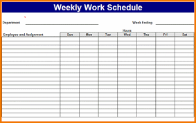 My Weekly Schedule My Weekly Schedule Template Rome Fontanacountryinn Com