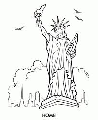 Small Picture Incredible and Lovely Statue Of Liberty Coloring Page with regard