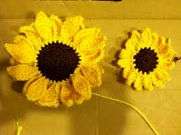 Crochet Sunflower Pattern New Everything Amber Skye Small Crochet Sunflower Pattern Included
