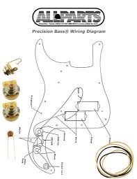 fender deluxe p bass wiring diagram new precision bass pots wire wiring kit for fender p bass guitar new precision bass pots