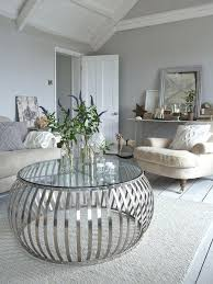 silver and glass coffee table found on tinaschoicescom via round silver glass coffee table