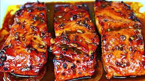 Honey Garlic Glazed Salmon Recipe - Easy Salmon Recipe - YouTube