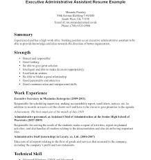 Executive Assistant Career Objective Resume Samples For Administrative Assistant Position Objective For