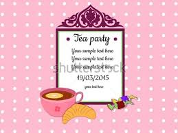 tea party invitations free template awesome free tea party invitation templates collection