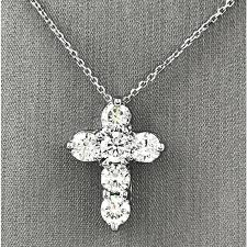 diamond cross pendant with chain bracelet gold diamond cross coin small necklace pendant 18k