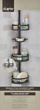pole cads tension pole corner shower holder home zenith 3 shelf oil rubbed bronze pole shower pole cads