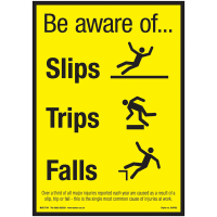 posters for office. Be Aware Of Slips, Trips \u0026 Falls Poster Posters For Office