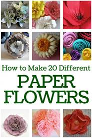 How To Make A Beautiful Flower With Paper How To Make 20 Different Paper Flowers The Crafty Blog Stalker
