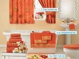 royal garden peach towel bathroom set