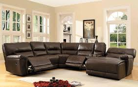 best leather couches homelegance 6 piece bonded leather sectional reclining sofa with chaise