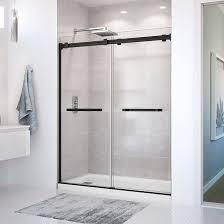 maax duel sliding shower door matte