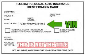 An insurance identification card issued by an insurance carrier. Sell My Car Orlando Documents How To Sign Your Car Title