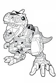 Red Zord Dino Charge Power Rangers Coloring Pages In 2019
