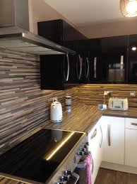 Bq It Kitchen Doors Bq Gloss Cream And Black Kitchen Doors Alb25 Hanham In Hanham
