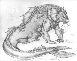 sea monster drawing. Exellent Drawing Drawing Of Some Sea Monster Throughout O