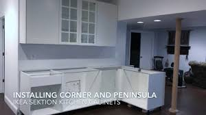 installing ikea sektion cabinets corner peninsula