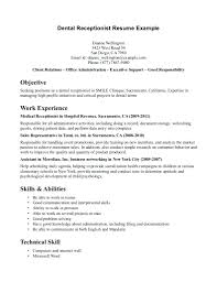 Resume Receptionist Resume Sample Monster Com And For