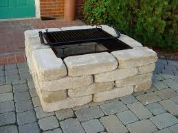 square fire pit kit by southern tradition