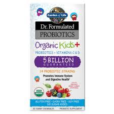 <b>Dr</b>. <b>Formulated Probiotics Organic</b> Kids+ 5 Billion CFU | Garden of Life