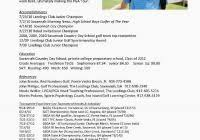 golf professional resume assistant golf professional resume samples for golf resume
