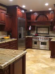 Travertine Floors In Kitchen Beautiful Kitchen Cabinet Color Especially Coupled With The Light