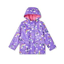 Skip Hop Raincoat Size Chart George Toddler Girls Rainbow Raincoat Purple 3t In 2019
