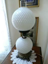 white milk glass lamp beautiful or vintage hobnail globe lamps