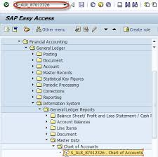 T Code To Display Chart Of Accounts In Sap Important Reports In Sap Fi