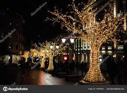 Christmas Lights For Street Lights Christmas Street Lights Stock Photo Dragonfly666 178055428