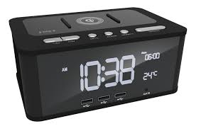 this digital alarm clock sits on the bedside nicely to allow you to switch the phone to silent and use a good old fashioned alarm clock to know the time and