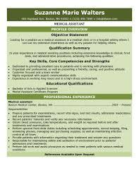 Medical Assistant Resume Samples Receptionist Medical Assistant