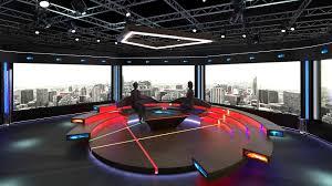 Tv Studio Lighting Design Virtual Tv Studio Chat Set 2 Visualizations Objects