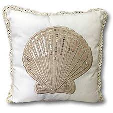 Seashell Design Amazon Com Banberry Designs Sea Shell Pillow Cover Nautical Beach