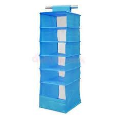 hanging closet organizer with drawers. 6-Pocket Hanging Wardrobe Shelves Clothes Rack Grommet Top Divider Box Blue Closet Organizer With Drawers R