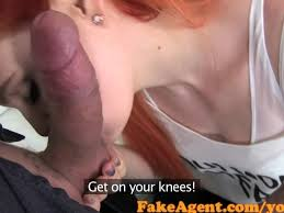 Amateur audition shy redhead