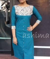 Kalamkari Churidar Neck Designs For Stitching Code 0602161 Flax Cotton Kurta With Kalamkari Yoke Price