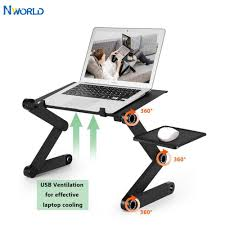 Two Fan Computer Stand <b>Portable Adjustable Foldable</b> Laptop ...